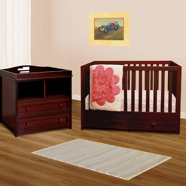 Afg 2 Piece Nursery Set Marilyn Convertible Crib And