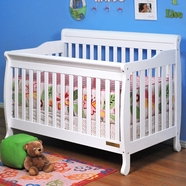 AFG Alice Convertible Crib in White