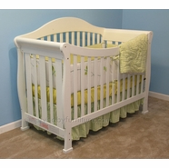 AFG Allie Convertible Crib in White