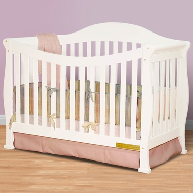 AFG Athena Allie 4 in 1 Convertible Crib in White - Click to enlarge