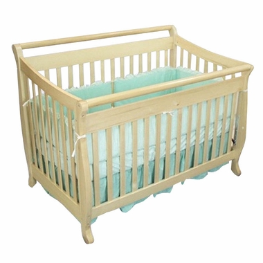AFG Athena Amy 4 in 1 Convertible Sleigh Crib in Natural - Click to enlarge