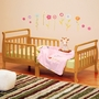 AFG Athena Anna Sleigh Toddler Bed with Safety Rails in Natural