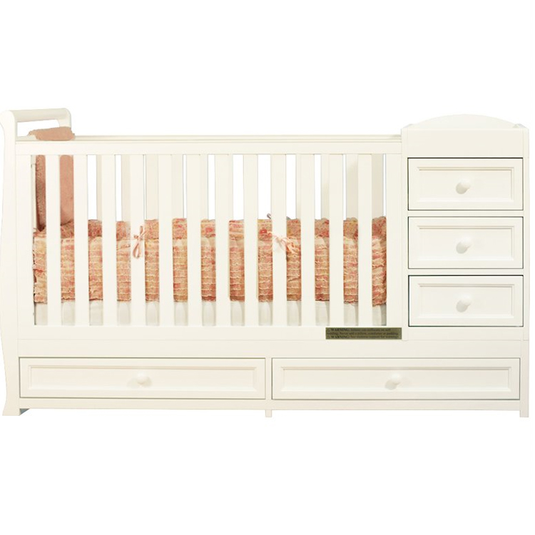 Afg Athena Daphne I 2 In 1 Convertible Crib And Changer Combo White Free Shipping