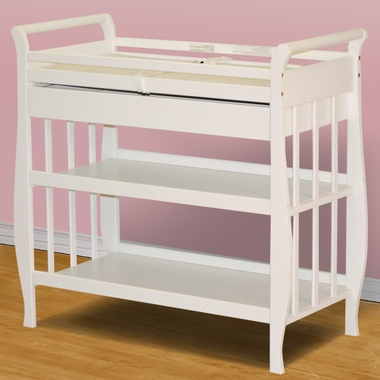 AFG Athena Nadia Sleigh Changing Table In White   Click To Enlarge
