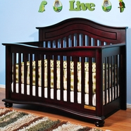 AFG Jordana Lia Convertible Crib in Cherry