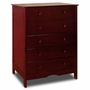AFG Molly 6 Drawer Dresser in Cherry