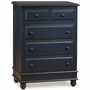 Alligator Monterey Collection 5 Drawer Chest in Denim Blue