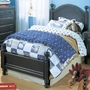 Alligator Monterey Collection Double Bed in Denim Blue