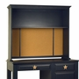 Alligator Monterey Collection Hutch For Desk in Denim Blue