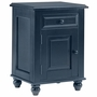 Alligator Monterey Collection Single Door Nightstand in Denim Blue