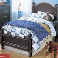 Alligator Monterey Collection Twin Bed in Antique Black