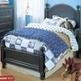 Alligator Monterey Collection Twin Bed in Denim Blue
