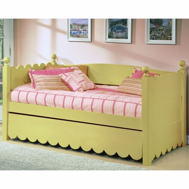 Alligator Scallop Collection Daybed in Sage Green - Click to enlarge