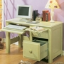 Alligator Scallop Collection Desk in Sage Green
