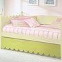 Alligator Scallop Collection Pop-Up Trundle W/ Scallop Board in Sage Green