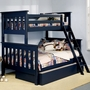 Alligator Slatted Collection Bunk Bed - Twin Over Full in Denim Blue