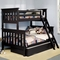 Alligator Slatted Collection Twin Over Full Bunk Bed in Antique Black