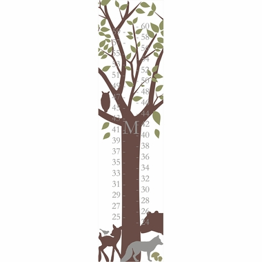 Alphabet Garden Designs Personalized Forest Critters Growth Chart