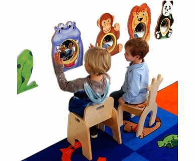 Anatex Animal Friends Wall Mirrors, Set of 4