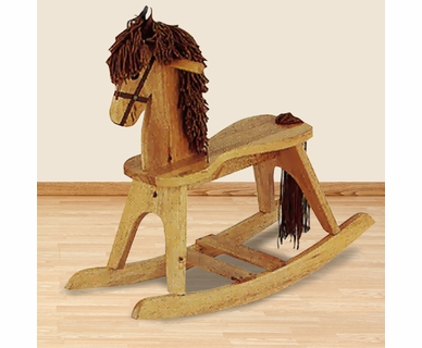 Angel Line Rocking Horse in Oak