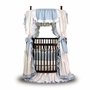 Angel Line Round Crib Bedding Set in Blue