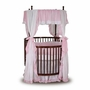 Angel Line Round Crib Bedding Set in Pink