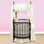 Angel Line Round Crib Bedding Set in White Eyelet