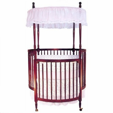 Angel Line Round Crib in Cherry - Click to enlarge
