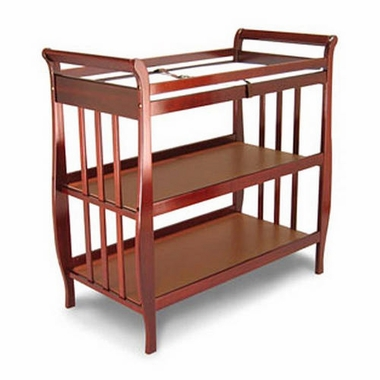 Angel Line Sleigh Changing Table in Cherry