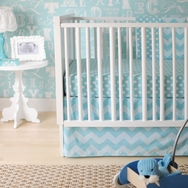 Aqua Zig Zag Bedding Collection by New Arrivals