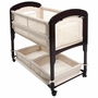 Arm's Reach Concepts Cambria Co-Sleeper Wood Clearvue Quilted Poly Natural Bassinet Without Skirt in