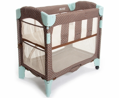 Arm's Reach Concepts Mini Arc Co-Sleeper Print Without Skirt in Java Dot