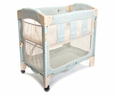 Arm's Reach Concepts Mini Arc Co-Sleeper Print Without Skirt in Turquoise Geo