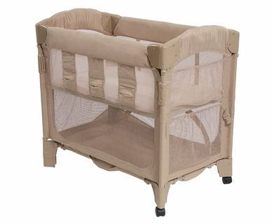 Arm's Reach Concepts Mini Arc Co-Sleeper Solid Without Skirt in Toffee