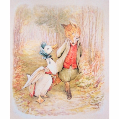 Art 4 Kids Beatrix Potter Jimima Puddle Duck & Fox Wall Art