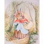 Art 4 Kids Beatrix Potter Old Mrs. Rabbit with Basket Wall Art