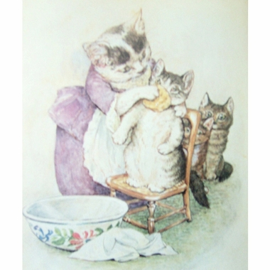 Art 4 Kids Beatrix Potter Tale of Tom Kitten Face Wash Wall Art