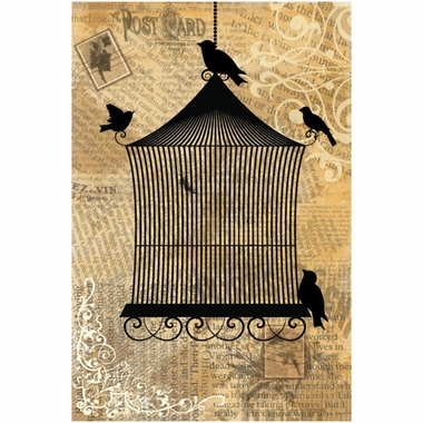 Art 4 Kids Bird Cage II Wall Art
