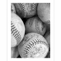Art 4 Kids Black & White Baseballs Wall Art