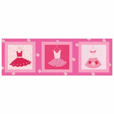 Art 4 Kids Candy Pink Dresses Wall Art