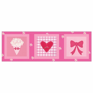 Art 4 Kids Candy Pink Flower Bow Wall Art