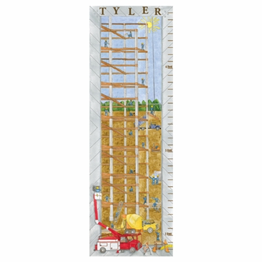 Art 4 Kids Construction Growth Chart Create-A-Name Wall Art