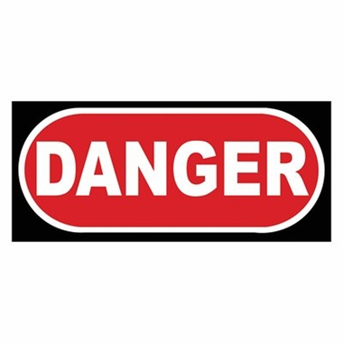 Art 4 Kids Danger Wall Art  in Black