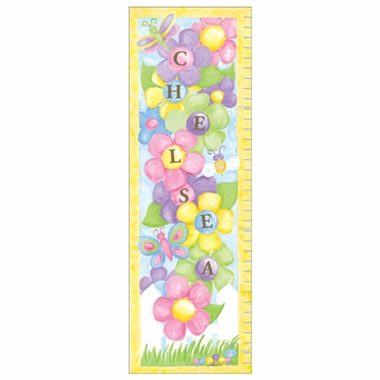 Art 4 Kids Garden Party Growth Chart Create-A-Name Wall Art