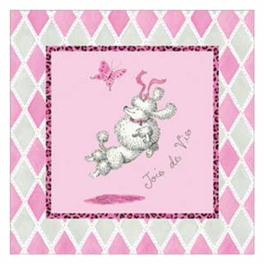Art 4 Kids Joie de Vie Poodle Wall Art