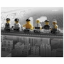 Art 4 Kids Lego - Lunch in The Sky Wall Art