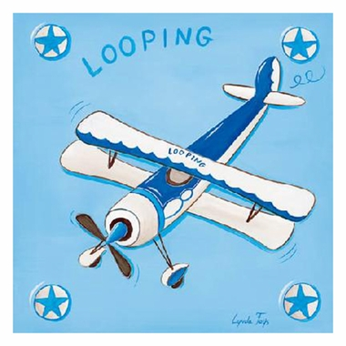 Art 4 Kids Looping Bi-Plane Wall Art