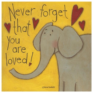 Art 4 Kids Never Forget You Are Loved Elephant Wall Art