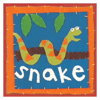 Art 4 Kids Patchwork Snake Wall Art