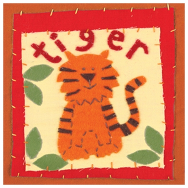 Art 4 Kids Patchwork Tiger Wall Art